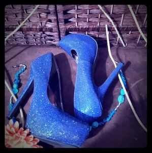 New Heels blue with glitters very nice